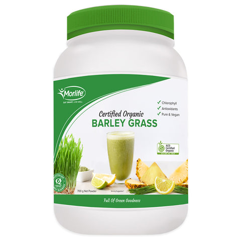 Certified Organic Barley Grass by Morlife