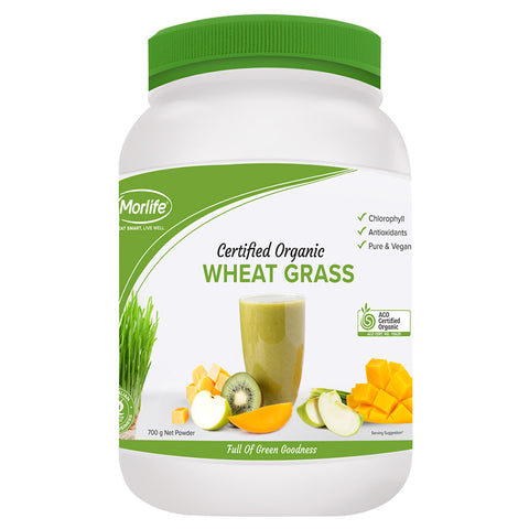 Certified Organic Wheat Grass by Morlife