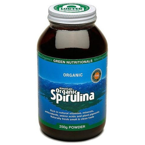 Image of Mountain Organic Spirulina 250g Powder by Green Nutritionals (MicrOrganics)