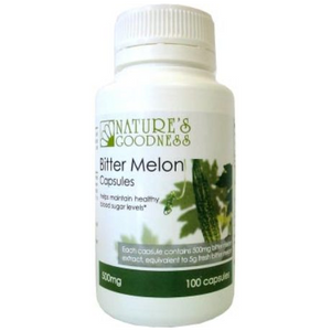 Bitter Melon 500mg 100 Capsules by Natures Goodness