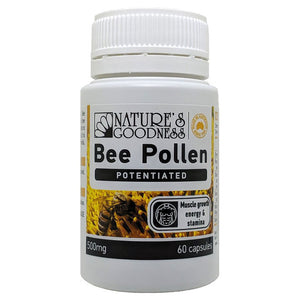 Activ Bee Pollen 60 Capsules by Natures Goodness