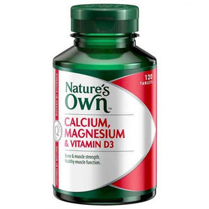 Calcium Magnesium & Vitamin D3 120 Tablets by Natures Own