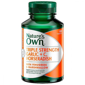 Garlic C Horseradish Fenugreek & Marshmallow 100 Tablets by Natures Own