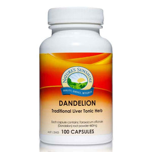 Dandelion 460mg 100 Capsules by Natures Sunshine