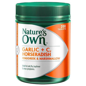 Garlic C Horseradish Fenugreek & Marshmallow 200 Tablets by Natures Own
