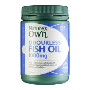 Fish Oil (Odourless) 1000mg 400 Capsules by Natures Own