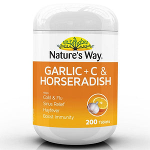 Garlic + C & Horseradish Tablets by Natures Way