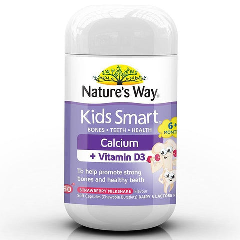 Kids Smart Calcium + D3 Chewable Capsules by Natures Way