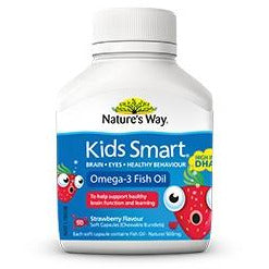 Kids Smart Omega 3 Fish Oil 50 Chewables by Natures Way