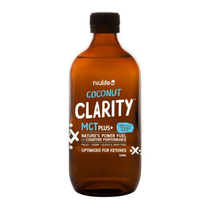 Coconut MCT Oil Clarity by Niulife with Brain Nourishing Omega 3