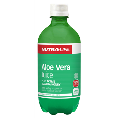 Image of Aloe Vera (Organic) plus Active Manuka Honey 500ml by Nutra Life
