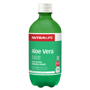 Aloe Vera (Organic) plus Active Manuka Honey 500ml by Nutra Life