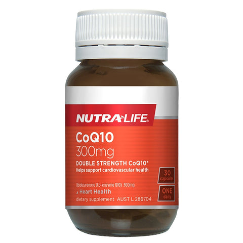 Image of CoQ10 300mg Double Strength 30 Capsules by Nutra Life