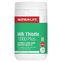 Milk Thistle 17000 Plus 120 Capsules by Nutra Life