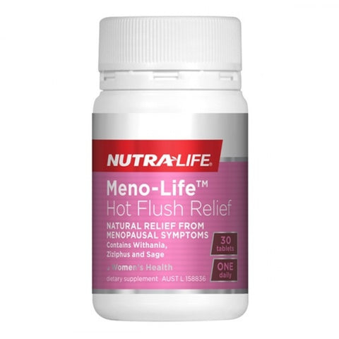 NutraLife Meno-Life Hot Flush Relief 30 Tablets