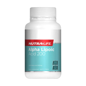 Alpha Lipoic Acid 200mg Capsules by Nutra Life
