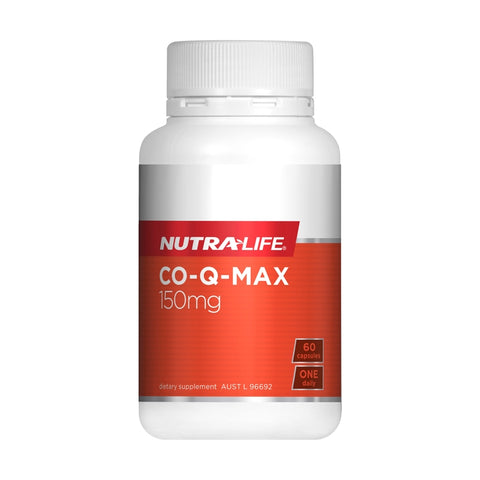 Image of Co-Q Max 150mg (Co-enzyme Q10) 60 Capsules by Nutra Life
