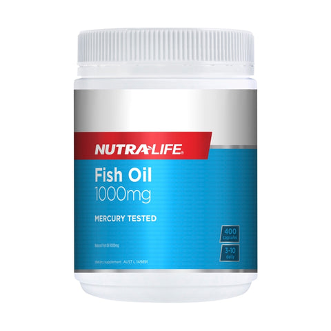 Omega 3 Fish Oil 1000mg 400 Capsules by Nutra Life