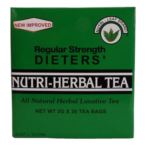 Nutri-Herbal Tea Dieters Regular Strength 30 Teabags by Nutri-Leaf Brand