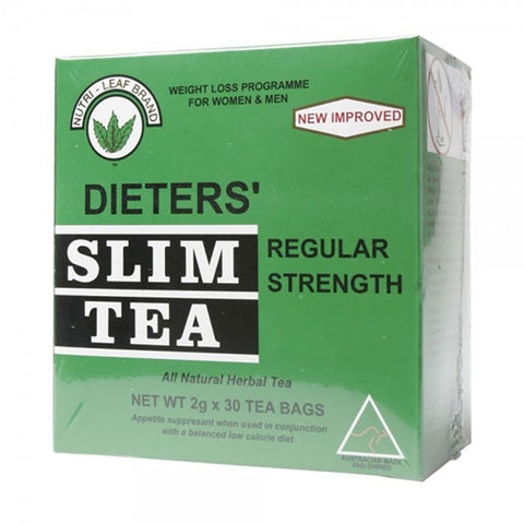 Dieters Slim Tea Regular Strength 30 Teabags by Nutri-Leaf Brand