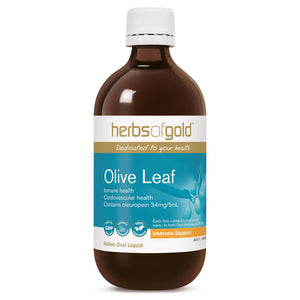 Olive Leaf Liquid High Strength 500ml by Herbs of Gold