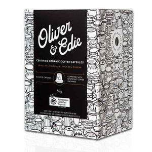 Oliver & Edie Organic Biodegradable Coffee Capsules 10 Pack