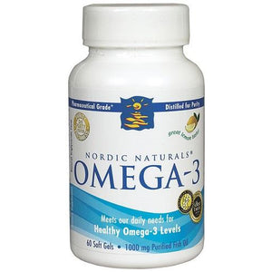 Omega 3 1000mg 60 Capsules Lemon by Nordic Naturals