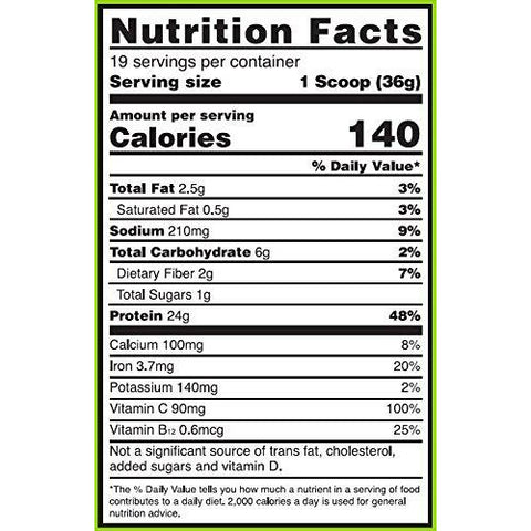 Image of Optimum Nutrition Plant Protein 19 Serves