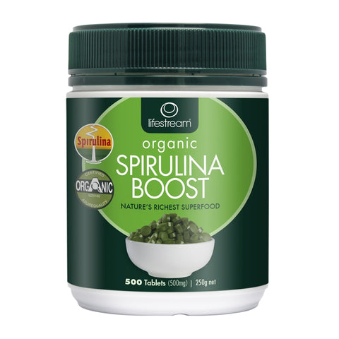 Image of Lifestream Certified Organic Spirulina Boost 500 Tablets