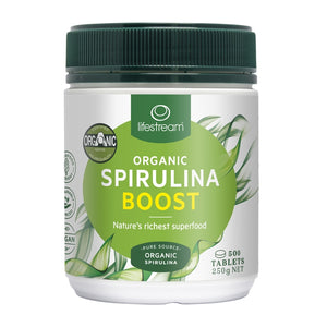 Lifestream Certified Organic Spirulina Boost 500 Tablets