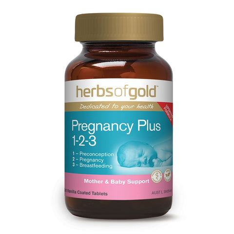 Image of Pregnancy Plus 1-2-3 Tablets by Herbs of Gold