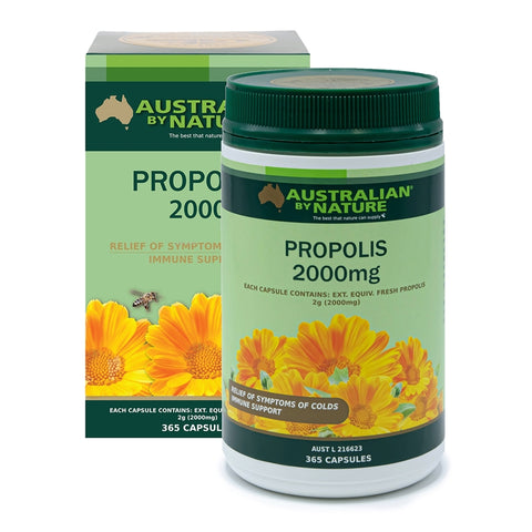 Image of Australian by Nature Propolis 2000mg 365 Capsules
