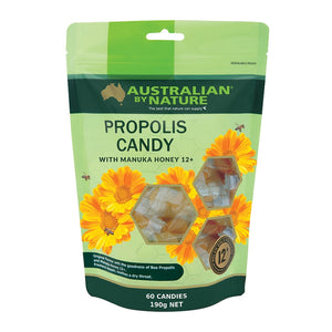Australian by Nature Propolis Candy with Manuka Honey 12+ (MGO 400) 60 Pack