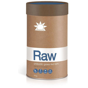 Raw Prebiotic Grass fed WPI 900g by Amazonia