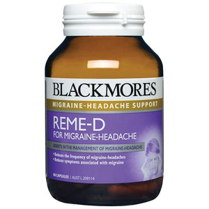 REME-D for Migraine Headache 60 Tablets by Blackmores