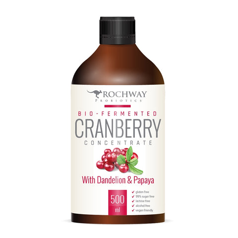 Rochway Bio-Fermented Cranberry Concentrate With Dandelion & Papaya