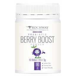 Organic Probiotic Berry Boost 5 Billion 90g - Rochway