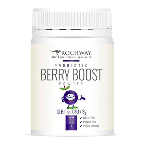 Organic Probiotic Berry Boost 10 Billion 90g - Rochway