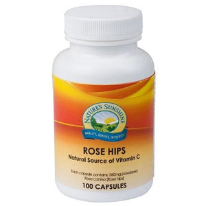 Rose Hips 560mg 100 Capsules by Natures Sunshine
