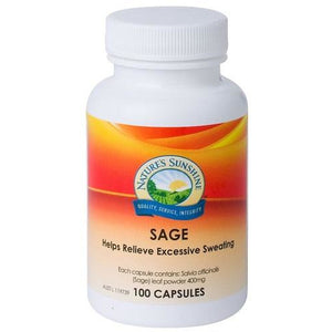 Sage 400mg 100 Capsules by Natures Sunshine