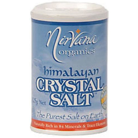 Himalayan Crystal Salt Stone Ground Fine 125g Shaker - Nirvana Health Products