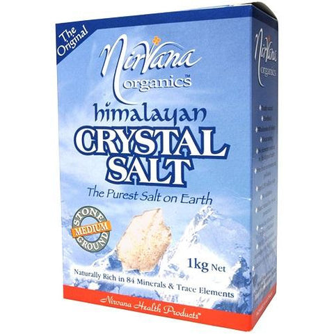 Himalayan Crystal Salt Stone Ground Medium 1kg - Nirvana Health Products