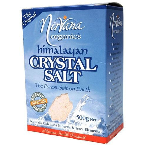 Himalayan Crystal Salt Stone Ground Medium 500g - Nirvana Health Products