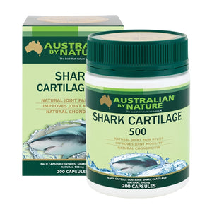Australian By Nature Shark Cartilage 500mg 200 Capsules