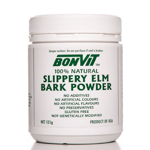 Slippery Elm Bark Powder 125g by Bonvit
