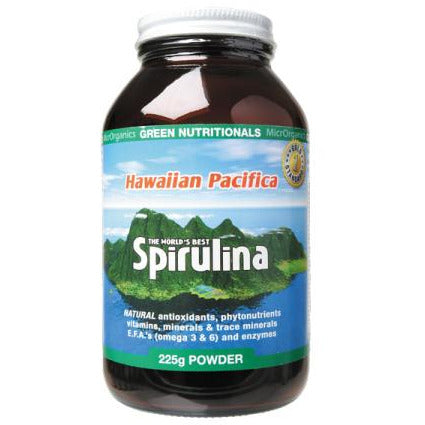 Hawaiian Pacifica Spirulina Powder 225g by Green Nutritionals (MicrOrganics)
