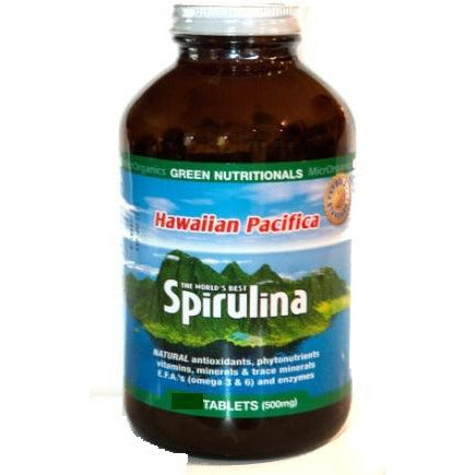 Image of Hawaiian Pacifica Spirulina 500 Tablets by Green Nutritionals (MicrOrganics)