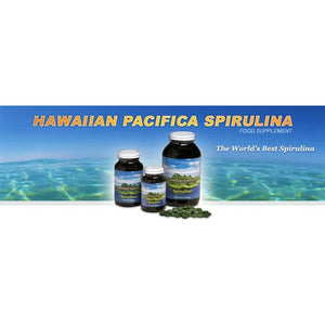 Hawaiian Pacifica Spirulina 200 Tablets by Green Nutritionals (MicrOrganics)