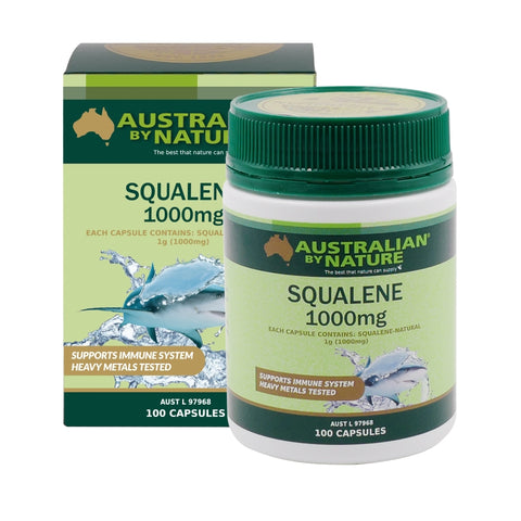Image of Squalene 100 Capsules by Australian by Nature