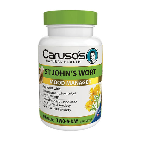 Carusos Natural Health St Johns Wort 60 Tablets